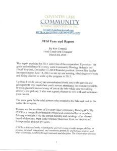 2014 CLCR Annual Report